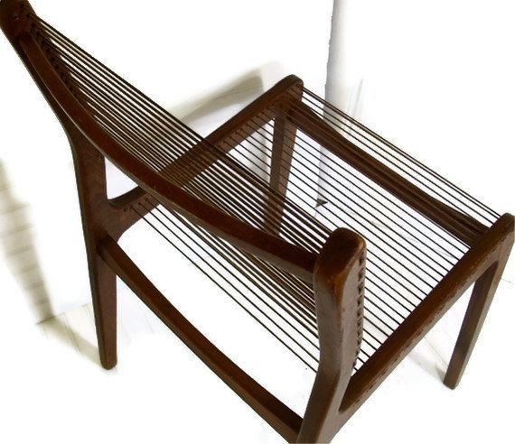 Jacques Guillon Style Cord Chair Made In Canada By DivineOrders, $120.00