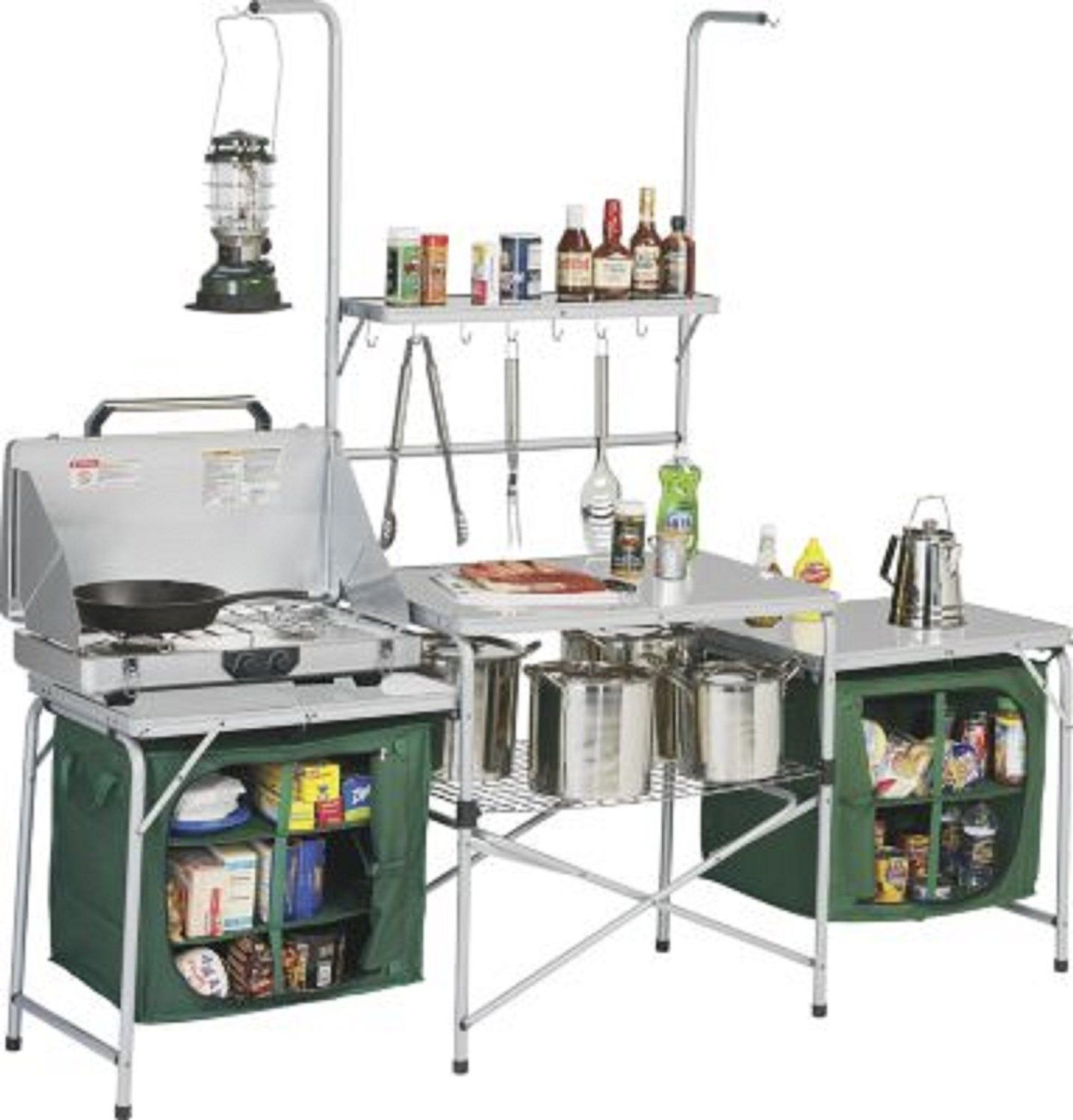Camping Kitchen 250 Amazoncom Outdoor Deluxe Portable Camping Kitchen With Pvc