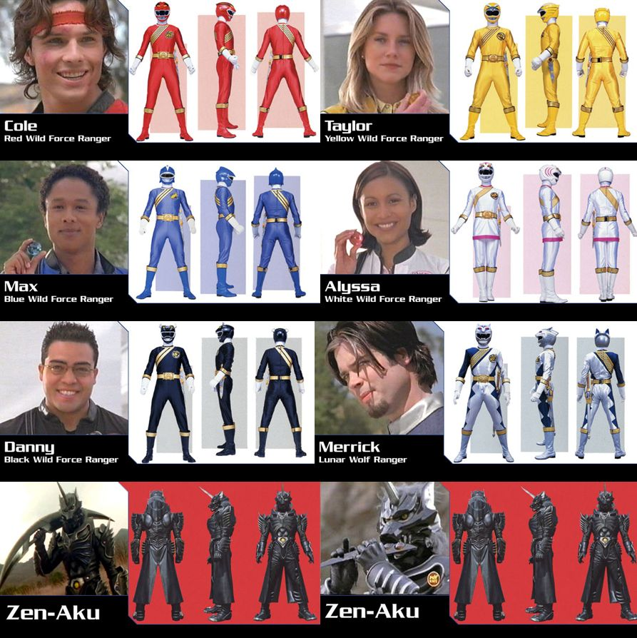 Power Rangers Wild Force | Power Rangers | Power rangers ...