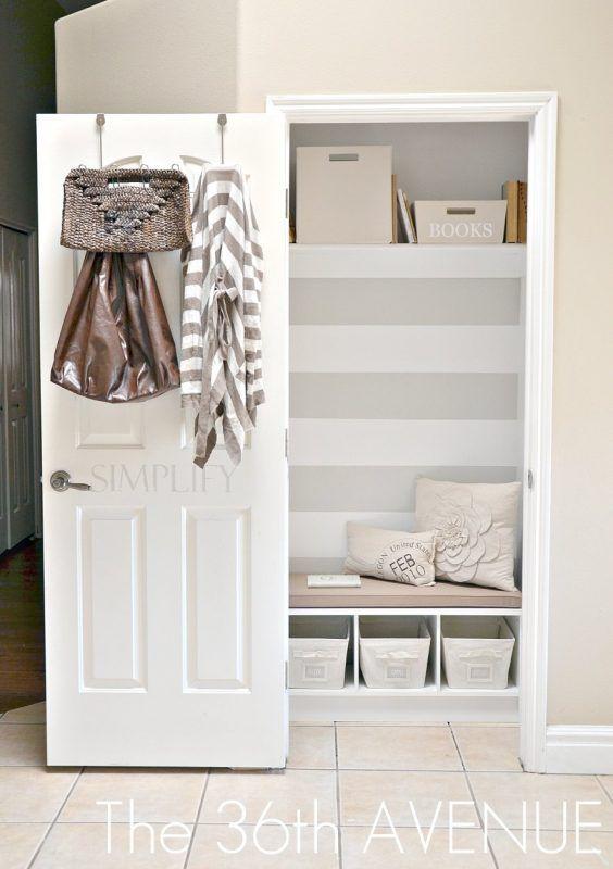 Tips And Tricks Maximizing Hall Closet Storage (Remodelaholic)   Entry  Closet, Closet Remodel And Hall Closet