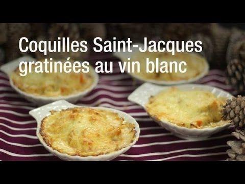 Recette De Coquilles Saint Jacques Gratinees Les Hors D Oeuvre