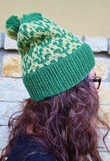 Sprout Mosaic Hat Pattern By Danna Rachel Hat Knitting Patterns Knitting Hat Pattern