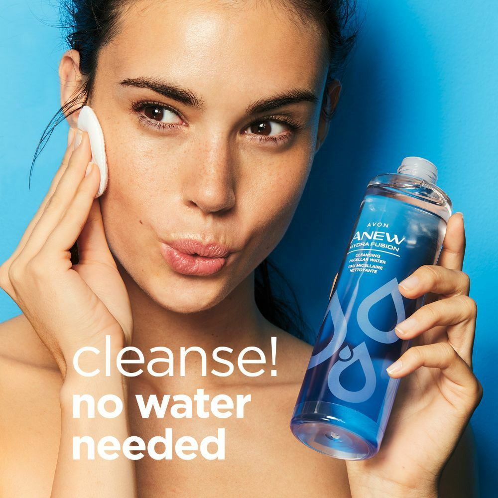 Our Hydra Fusion Micellar Water gently cleanses skin, no