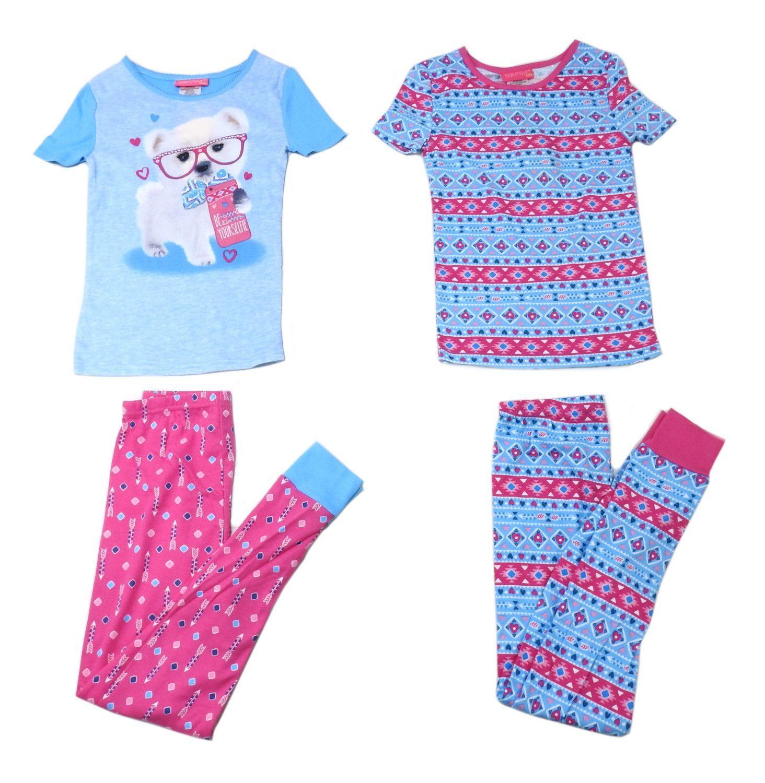 Saint Eve Girls Size 8 Mix   Match 4 Piece Pajama Set 063c9387e