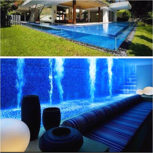 Basement with underwater pool view. | Places | Basement ...