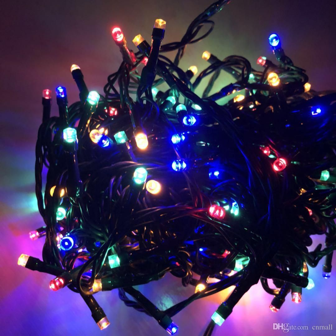 Led Christmas Lights Multi Colour 5m Rubber Cable Fairy Light Led Christmas Lights Fairy Lights Coloured Fairy Lights