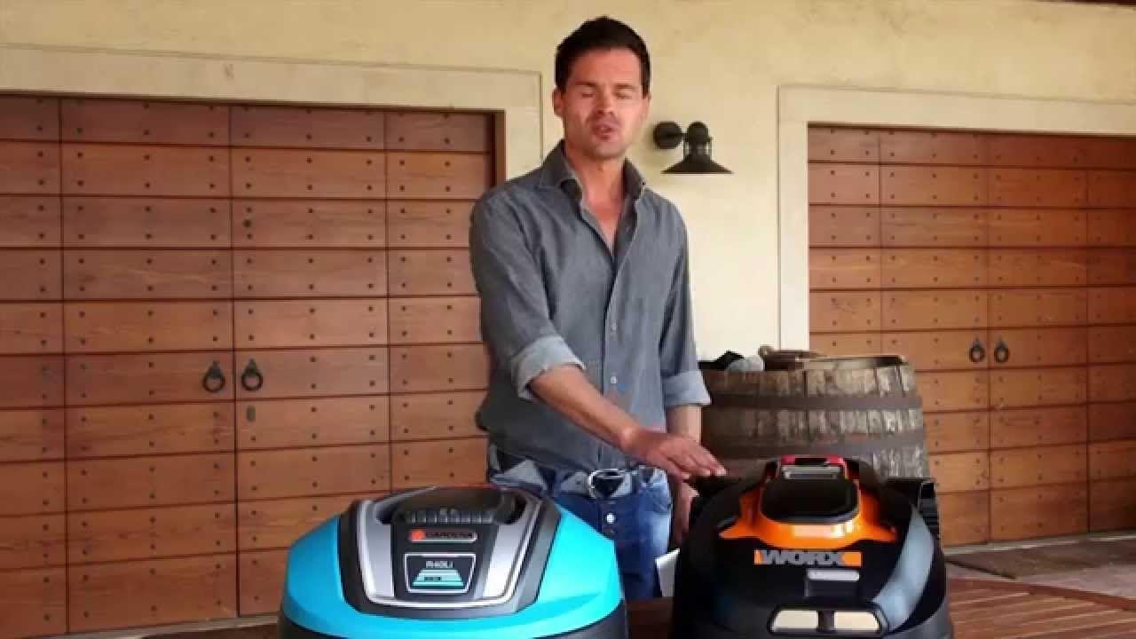 Robot Lawn Mower Test Review Gardena Vs Worx Landroid Robot Lawn