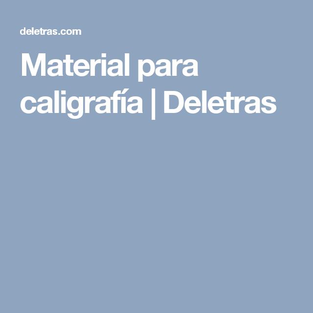 Material para caligrafía | Deletras