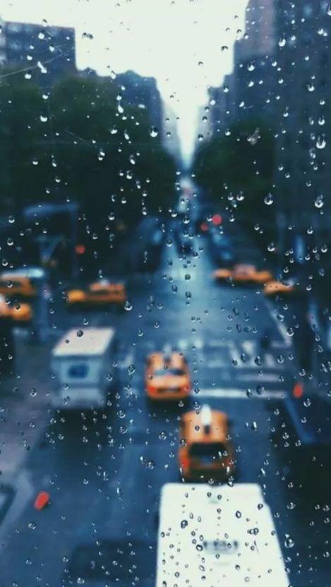 New York Rain Drops Iphone Wallpaper Fotografia De Janela Papel