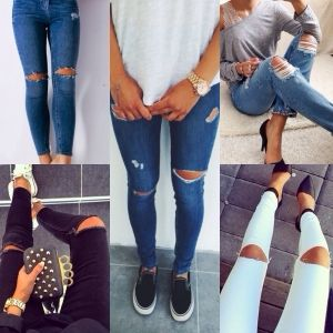 Lauren's Looks : The latest trend: Ripped jeans (DIY tutorial ...