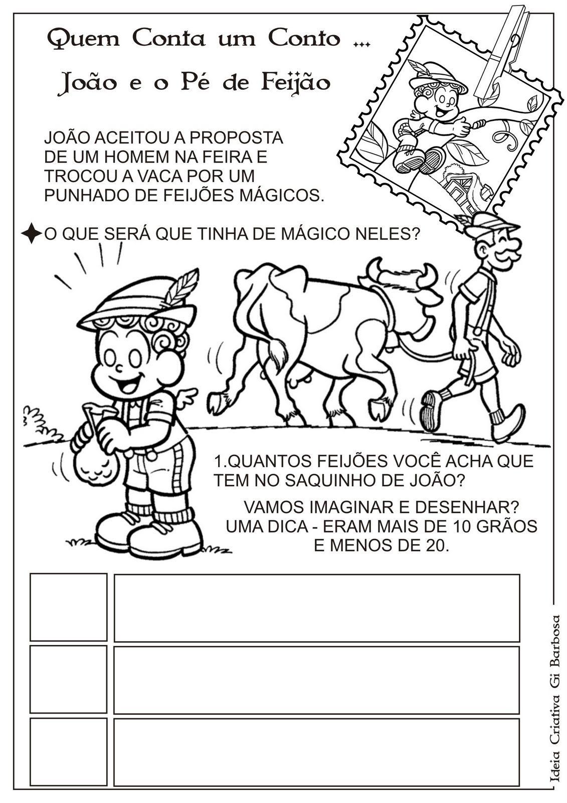 Atividade Joao E O Pe De Feijao Numerais De 10 A 20 Atividades