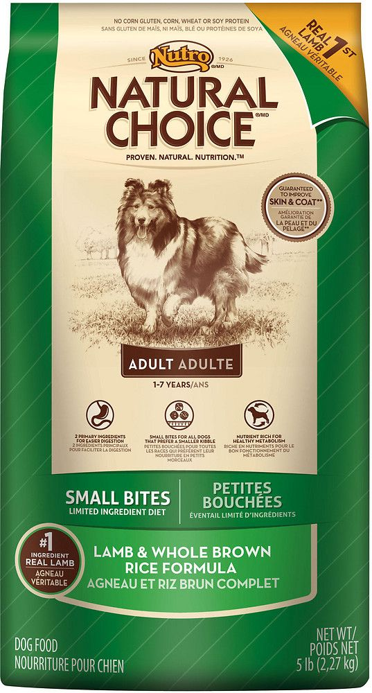 Nutro Natural Choice Limited Ingredient Diet Adult Small Bites Lamb