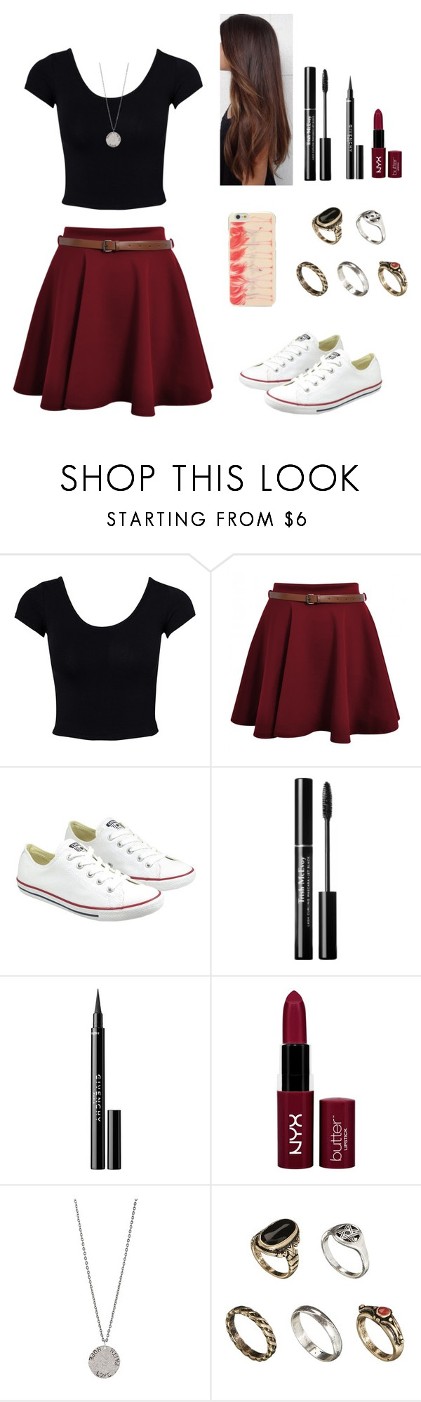"""""""Untitled #166"""" by thepearllesswonder ❤ liked on Polyvore featuring Estradeur, Converse, Trish McEvoy, Givenchy, Diana Warner, ASOS and Kate Spade"""