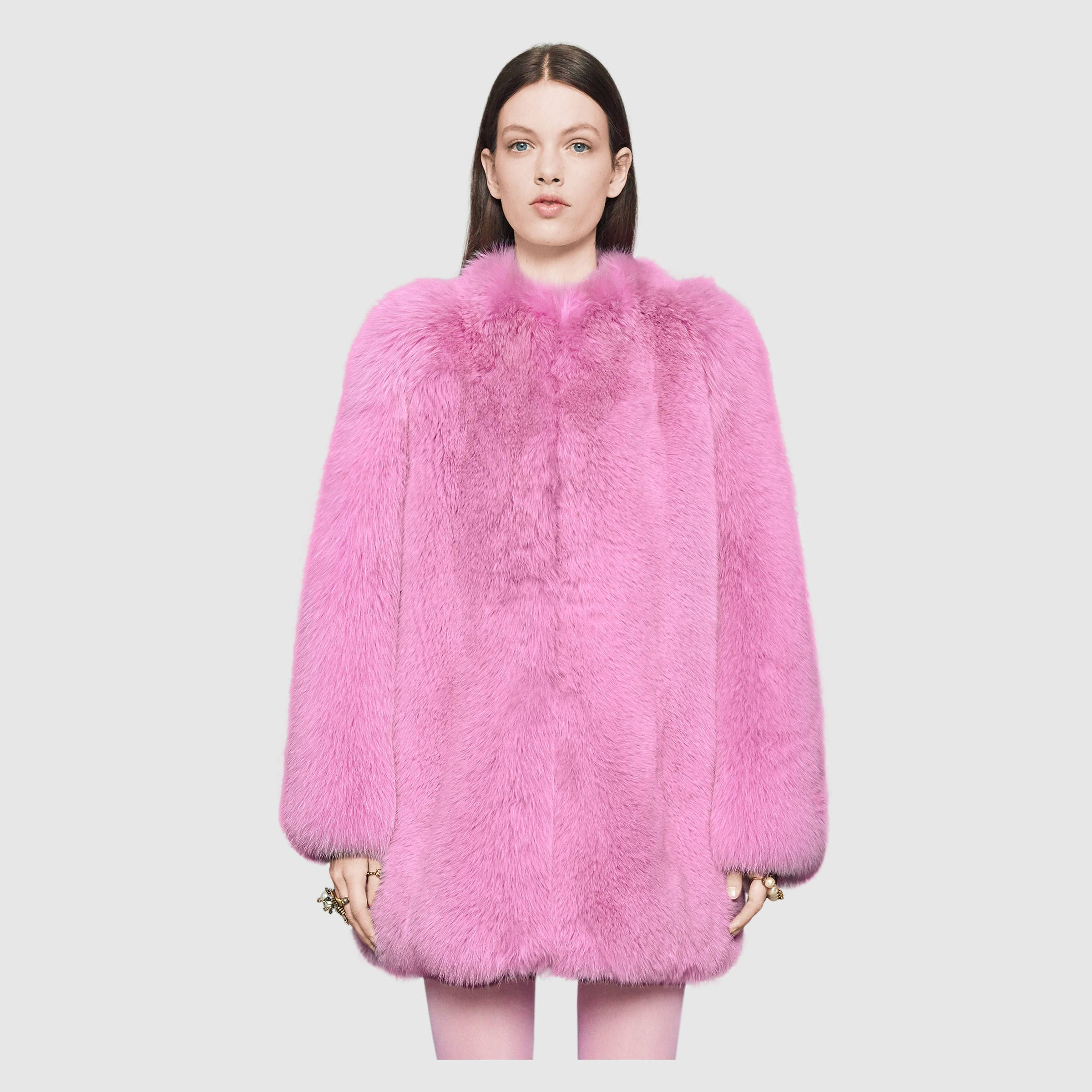 Pink Gucci Fox Fur. I can t even.  d6c70a11492f
