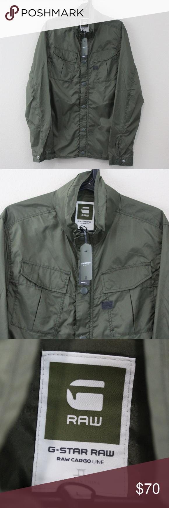 G Star Raw Cargo Line Combat Overshirt Jacket R514 Jackets G Star Jacket G Star