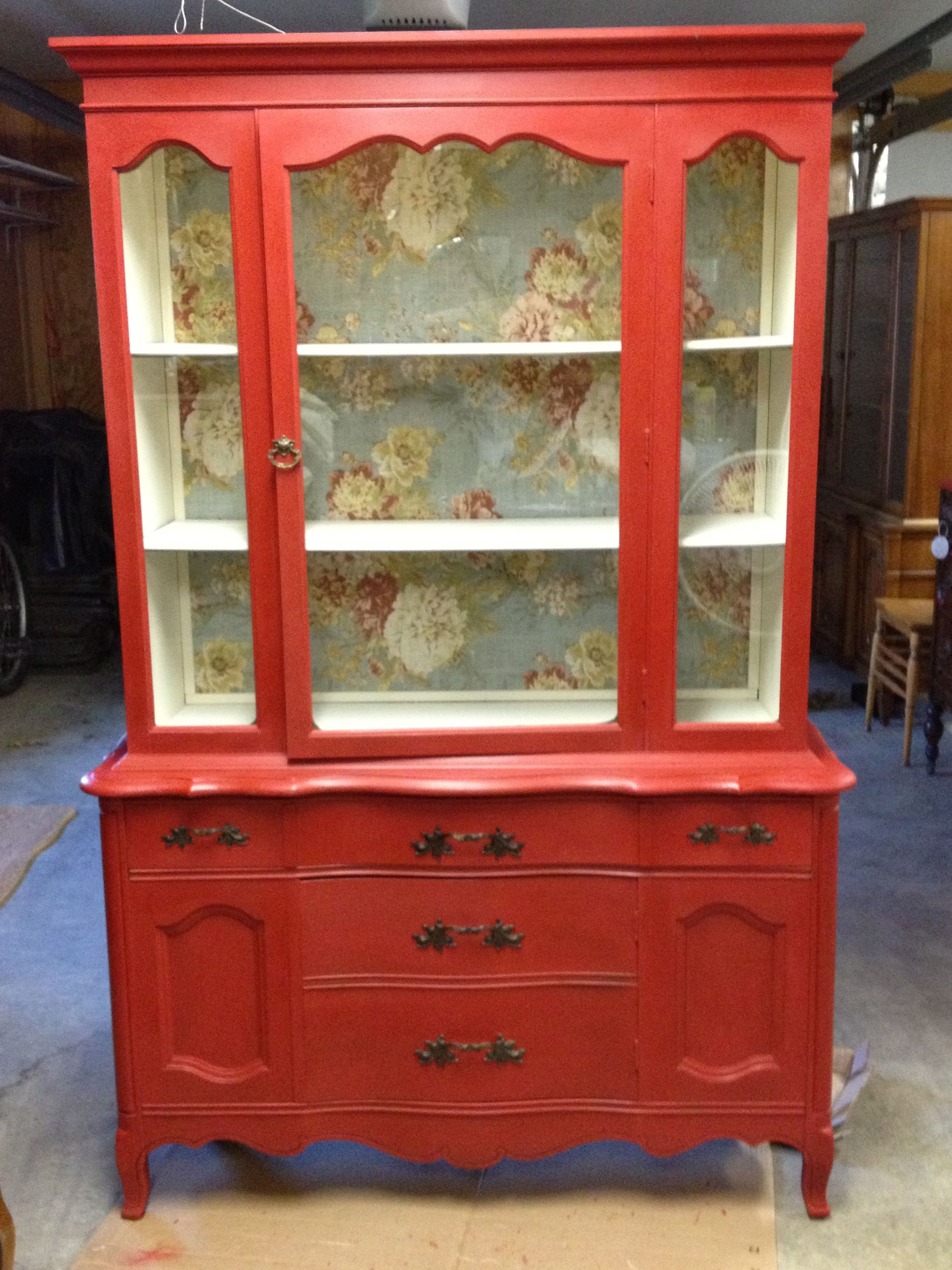 China Hutch Cabinet painted in CeCe Caldwell Chalk and Clay Paint ...