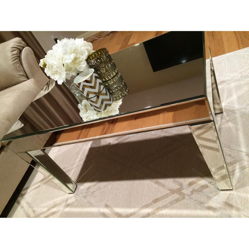 Amelie Mirrored Lamp Table Mirror Lamp Mirrored Furniture