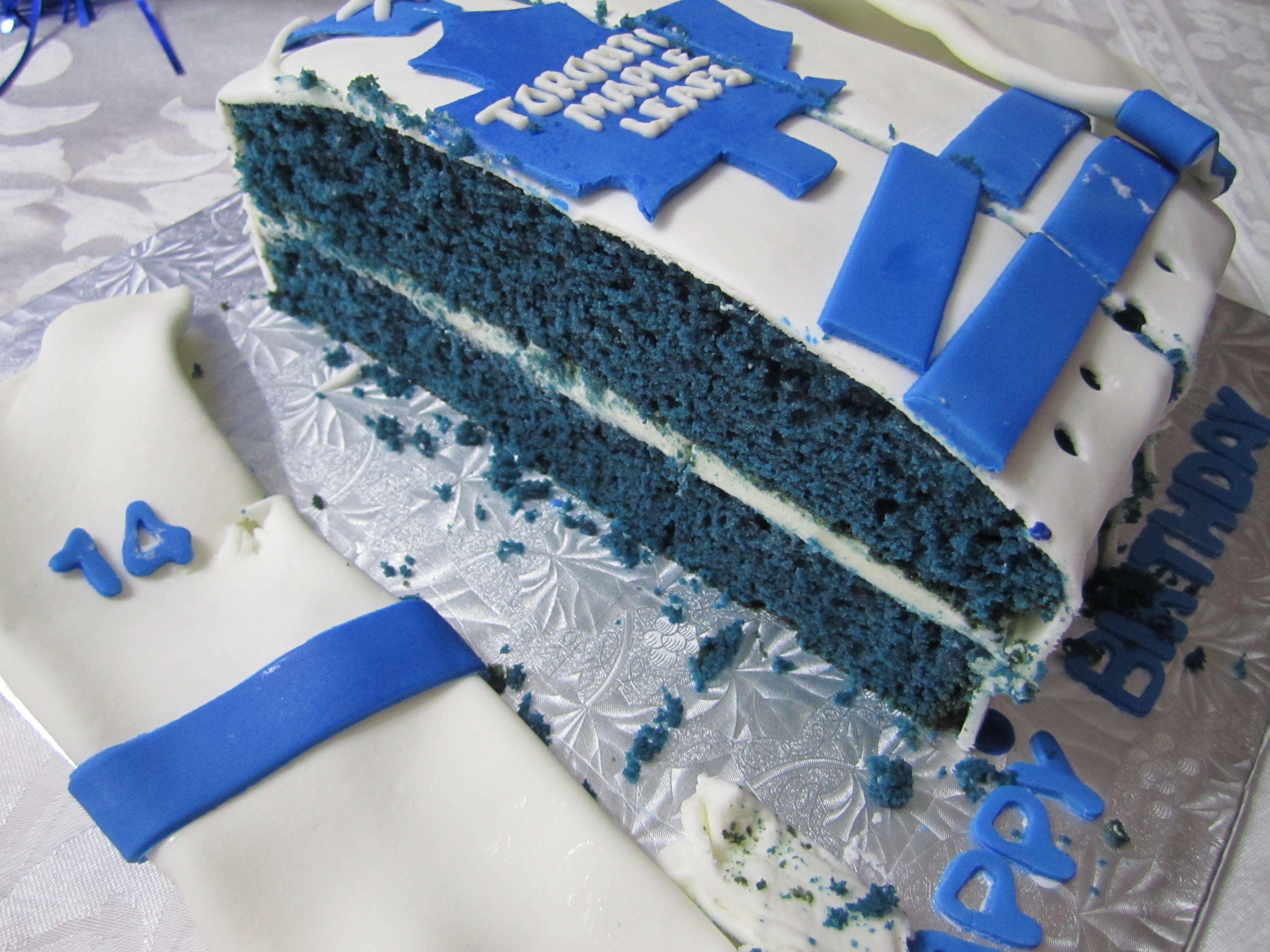 Toronto Maple Leafs Dave Keon Birthday Cake Blue Velvet Things