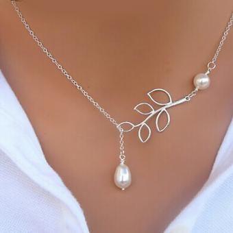 Compra 2016 fashion Women Popular Silver Special Leaves Pearl Short Clavicle Chain Necklace For Banquet Jewelry online ✓ Encuentra los mejores productos Collares de moda joyliveCY en Linio Colombia ✓