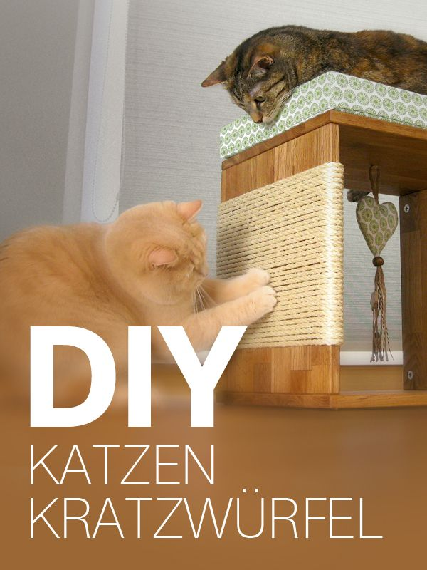 katzenm bel kratzw rfel f r katzen selber bauen diy anleitung tierische bastelideen. Black Bedroom Furniture Sets. Home Design Ideas