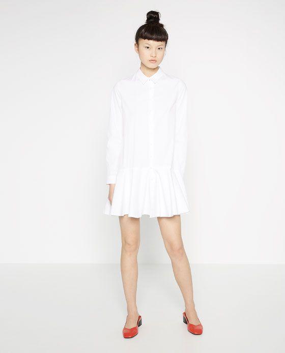 5863cb4810f Image 1 of SHIRT DRESS from Zara