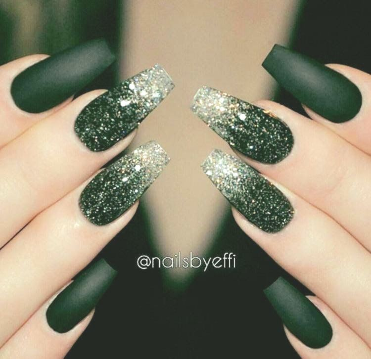 25 Elegant Emerald Green Nails Designs For You Page 6 Lifestyles In 2020 Swag Nails Best Acrylic Nails Coffin Nails Long
