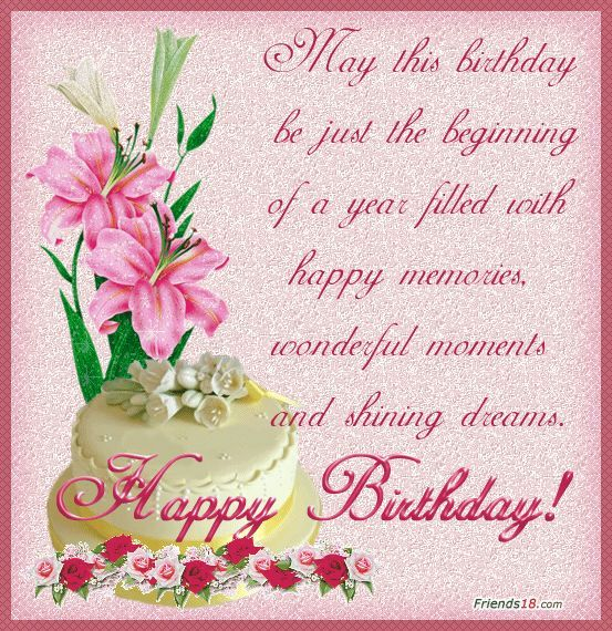 Birthday Card Card For Her Girl May This Birthdays Be Just The – Happy Birthday Greeting Cards for Friends