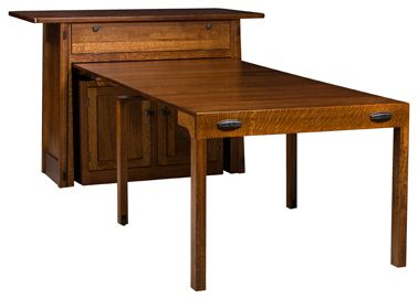 Colbran Frontier Island Buffet With Pull Out Table Amish