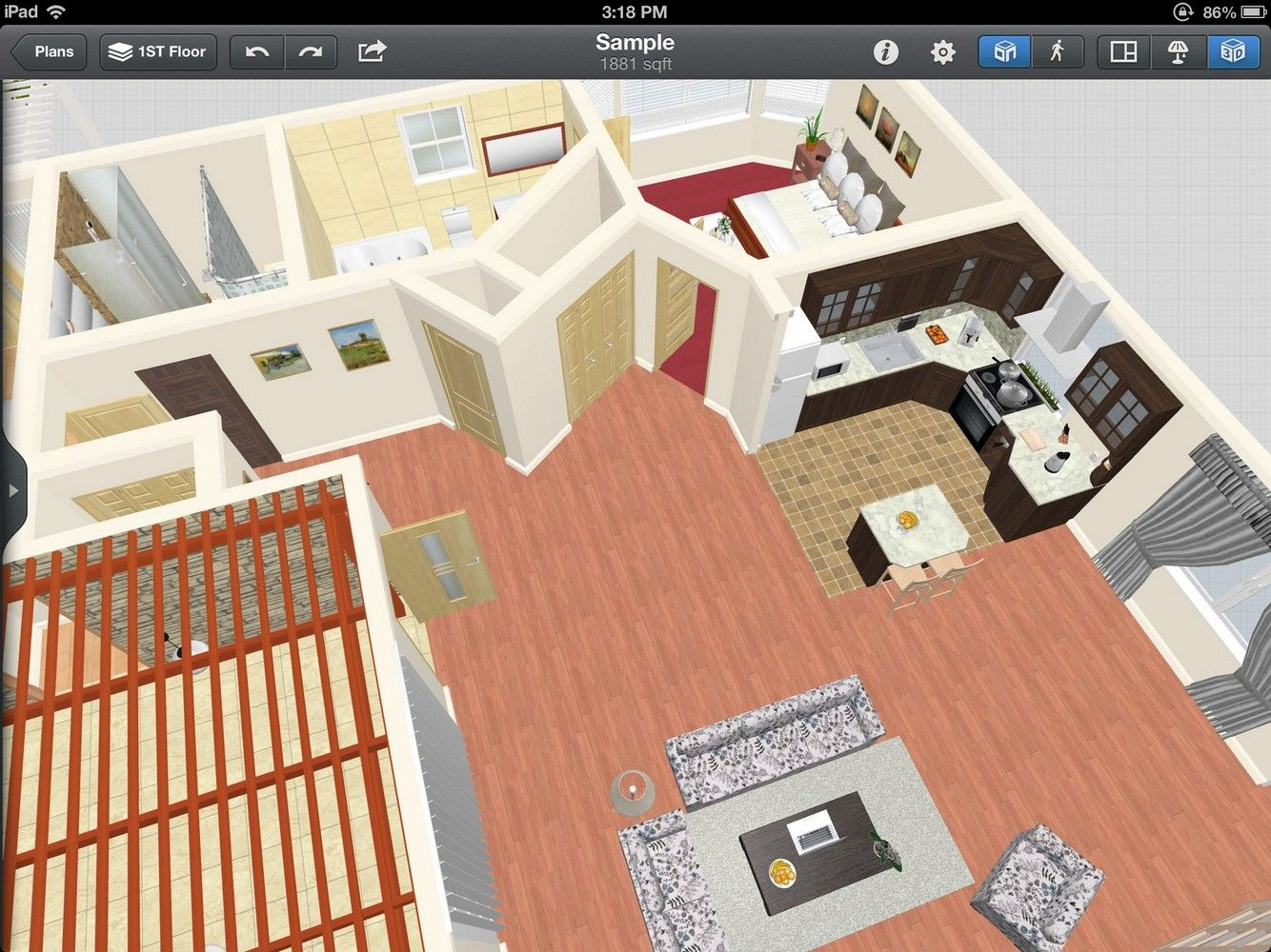 Create Your Space Using Ipad Interior Design App Floor