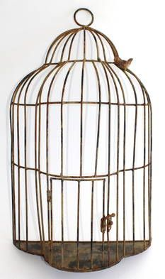 Illusion Birdcage H61 L41 W33  $120  Saw this in a shop front that was shut - and never saw again. Love it!