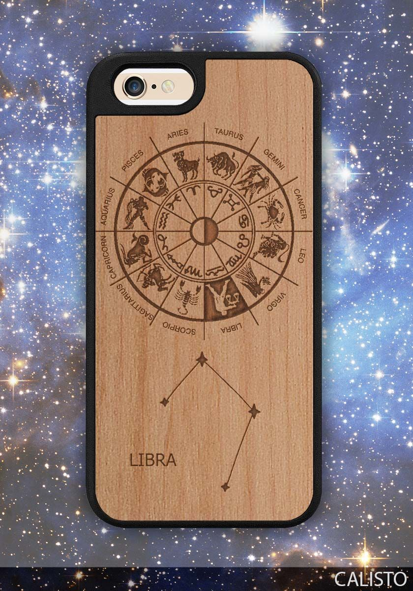 Zodiac Lirba Sign Traveler Wood Case for iPhone 6 / 6s