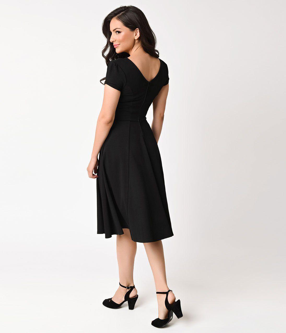Plus size s style black knit short sleeve natalie swing dress