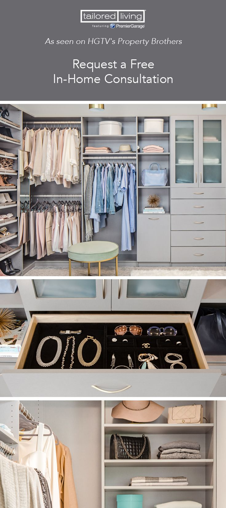 Build Your Dream Closet! Request A Free In Home Consultation Today And Save  Up To 300!*