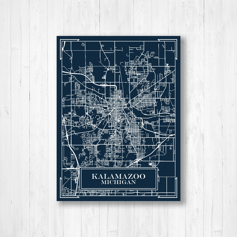 Kalamazoo michigan blueprint map modern map blueprint design kalamazoo michigan blueprint map modern map blueprint design kalamazoo map city map art map of kalamazoo map print wall art canvas malvernweather Image collections