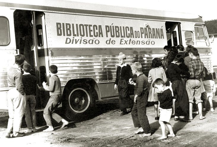 Carro da BPP que circulava pelos bairros da cidade. Curitiba, anos 1960.