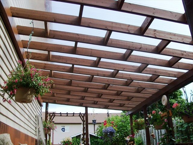 Charmant Pergola Roofing Materials U2013 The Design Of The Pergola Is Determined By The  Particular Geographical Location.