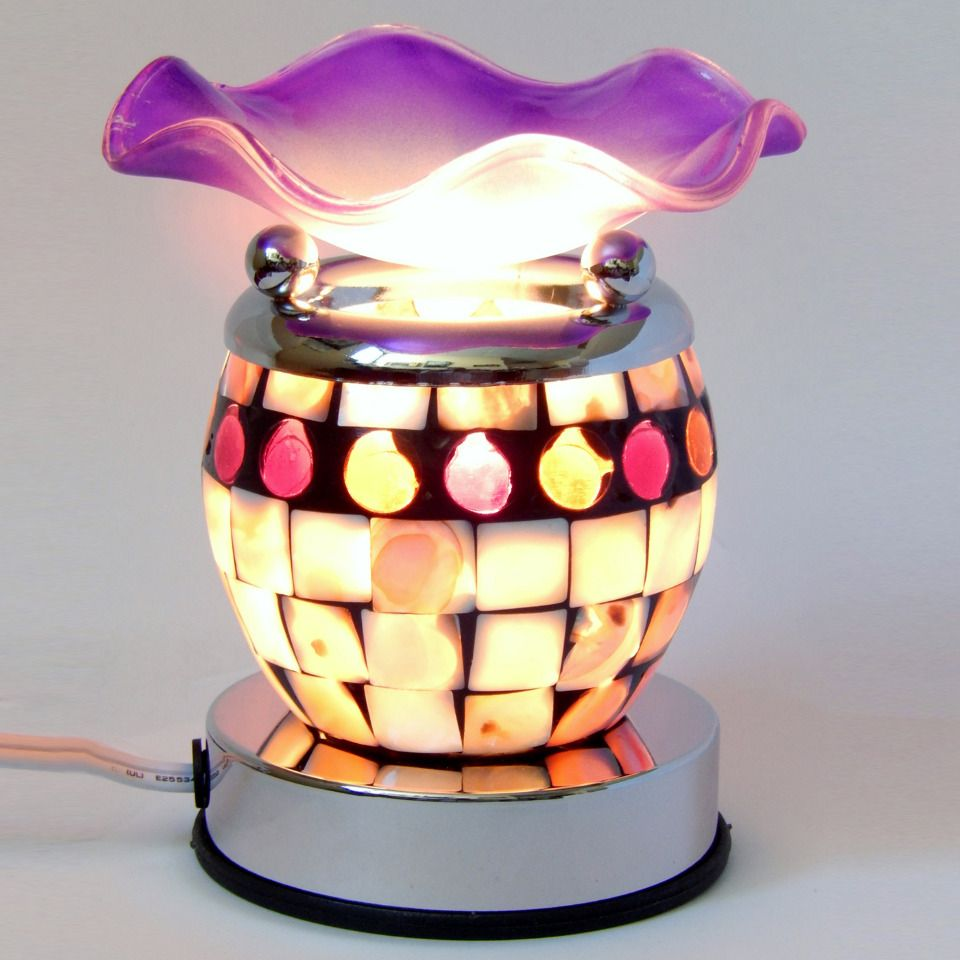 Lamp Of Aroma Touch Sensitive Lamp With Incense Oil In Purple And White Beyond The Rack Touch Sensitive Lamp Beyond The Rack Lamp