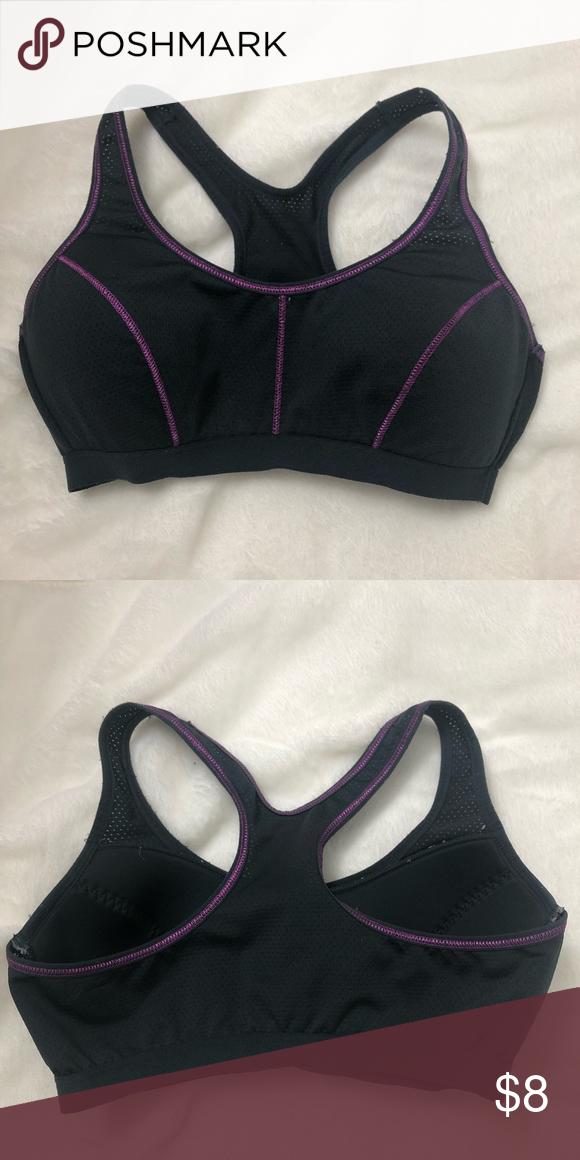 ab2547ac01ffa5 Danskin now sports bra Gray and purple sports bra. Fits like a small.  Danskin Now Intimates & Sleepwear Bras