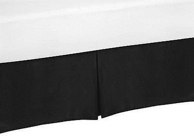 Solid Black Baby Crib Skirt Or Dust Ruffle For Sweet Jojo Designs