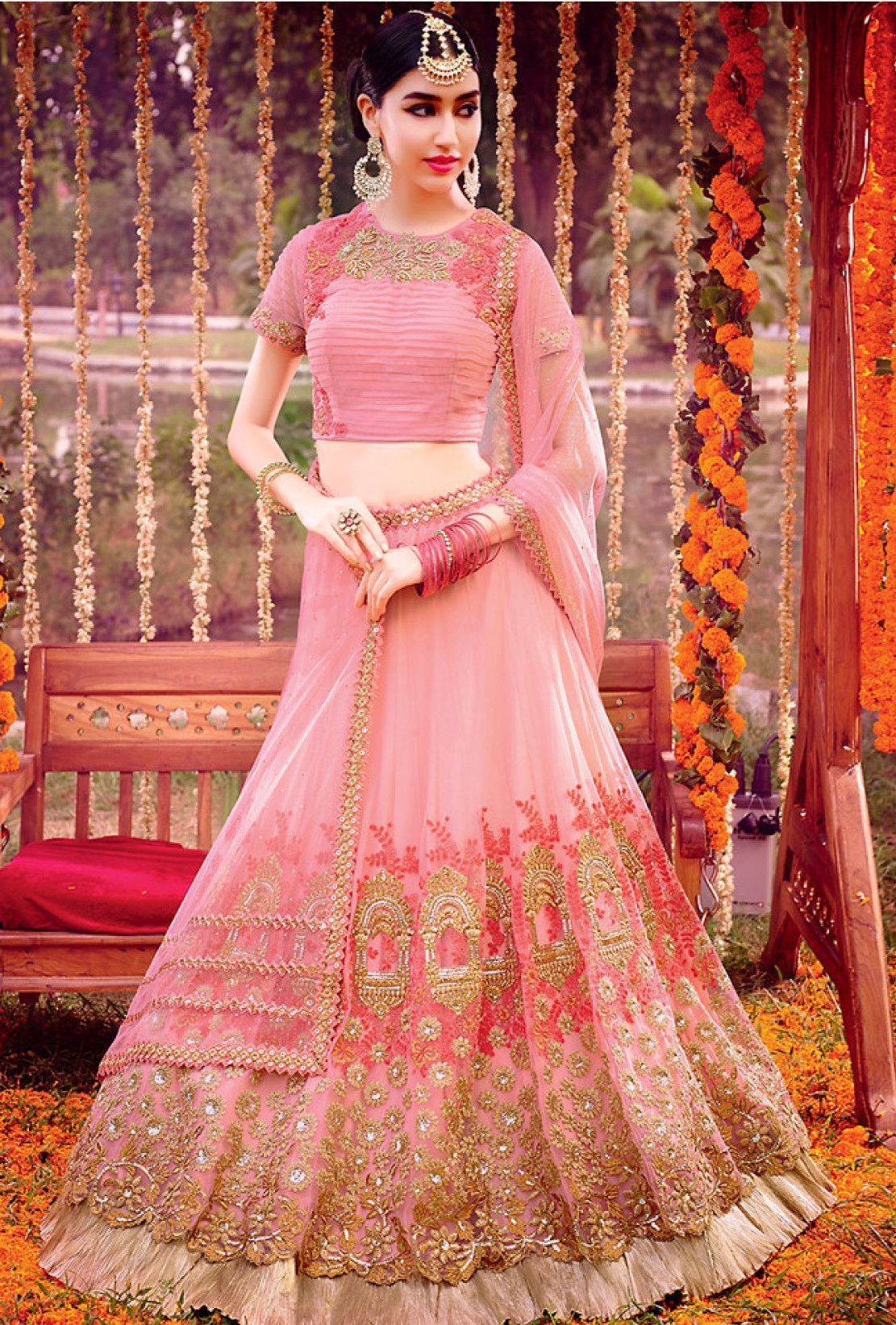 Pink designer party wear lehengha - Desi Royale - 1 | d | Pinterest ...