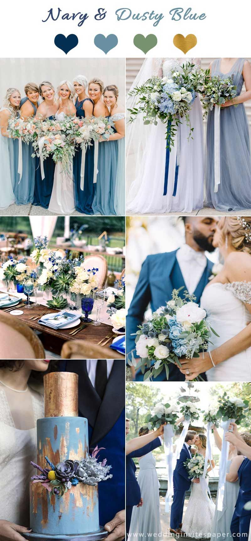 Top 7 Early Spring Navy Blue Wedding Color Palettes Navy Wedding Colors Wedding Color Schemes Summer Summer Wedding Colors