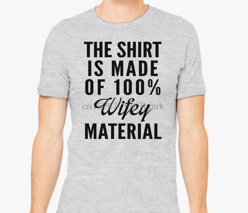 womens t-shirt graphic tee Not wifey material Jersey Short Sleeve V-Neck Tee