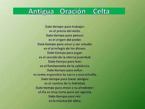 Oracion Celta Oraciones Celta Y Afirmaciones