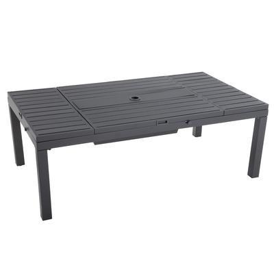 Hampton Bay Westbury Adjustable Table Sofi Rec Home Depot