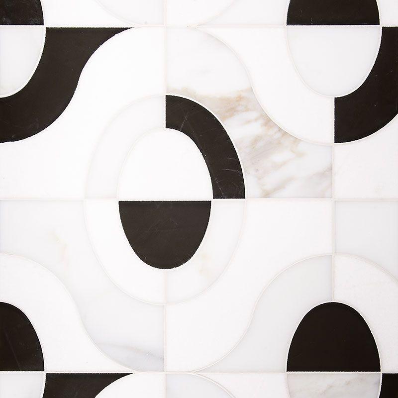 Thassos Calacatta Mykonos Honed Calypso Marble Waterjet Decos 6x6 With Images Water Jet Calacatta Decorative Tile