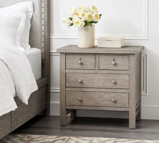 Farmhouse 4Drawer Nightstand Shaker furniture