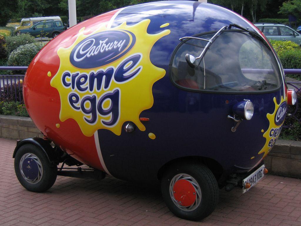 Cadbury Creme Egg Car - the car of my dreams | Point of sale ...
