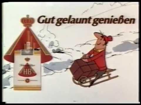 HB Männchen & der Schlitten (1982) Kinowerbung aus den frühen 80ern für die Zigarettenmarke HB.