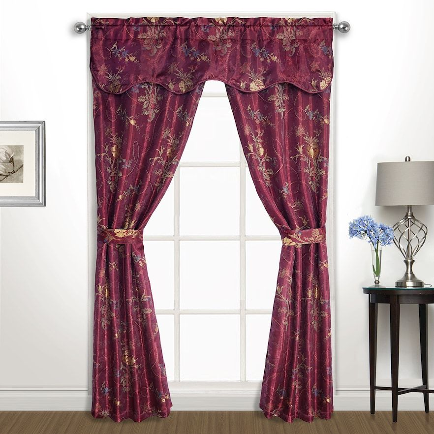 United Curtain Gemini 5 Piece Window Curtain Set Panel Curtains