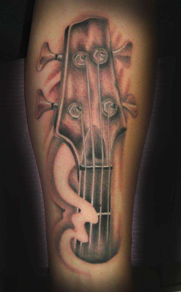 Bass Guitar Tattoo : guitar, tattoo, Guitar, Tattoo, Music, Sleeves,, Designs,, Tattoos
